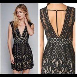 Free People one Million Lovers Black Dress